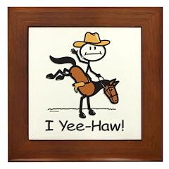 Horse Cowboy Framed Tile