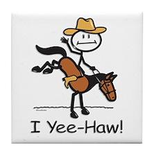Horse Cowboy Tile Coaster