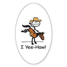 Horse Cowboy Oval Decal