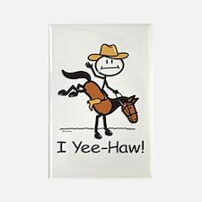 Horse Cowboy Rectangle Magnet