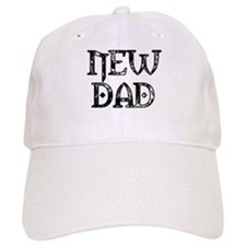 Black & White Carved New Dad Baseball Cap