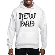 Black & White Carved New Dad Hoodie