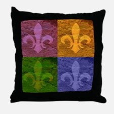 New Orleans Fleur de Lis Art - Throw Pillow