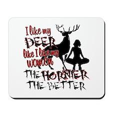 Deer & Women Mousepad