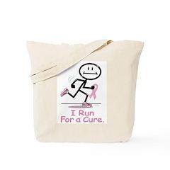 Breast Cancer Run Tote Bag