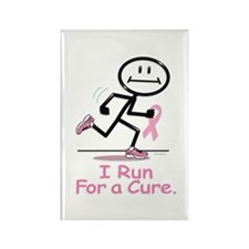 Breast Cancer Run Rectangle Magnet