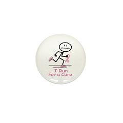 Breast Cancer Run Mini Button (10 pack)