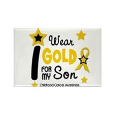I Wear Gold 12 Son CHILD CANCER Rectangle Magnet