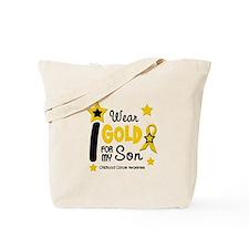 I Wear Gold 12 Son CHILD CANCER Tote Bag