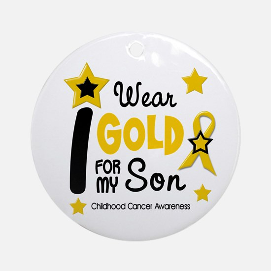 I Wear Gold 12 Son CHILD CANCER Ornament (Round)