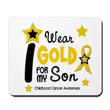 I Wear Gold 12 Son CHILD CANCER Mousepad