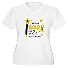 I Wear Gold 12 Son CHILD CANCER T-Shirt