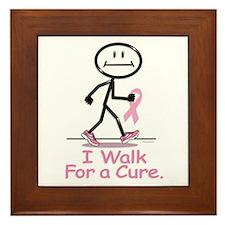 Breast Cancer Walk Framed Tile