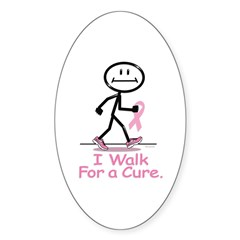 Breast Cancer Walk Oval Decal