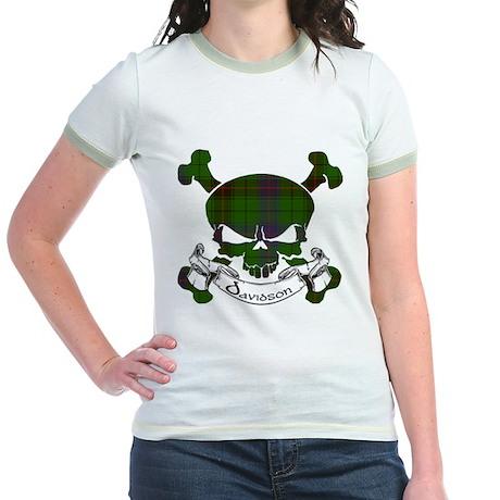 Davidson Tartan Skull Jr. Ringer T-Shirt
