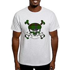 Davidson Tartan Skull T-Shirt