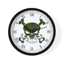 Davidson Tartan Skull Wall Clock