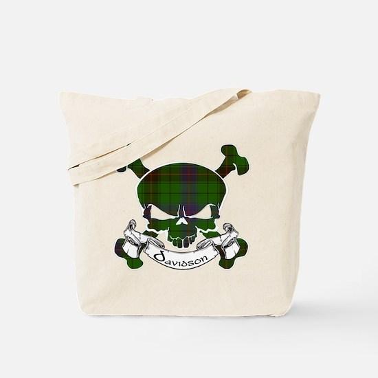 Davidson Tartan Skull Tote Bag