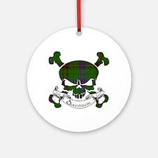 Davidson Tartan Skull Ornament (Round)