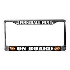 Football Fan License Plate Frame