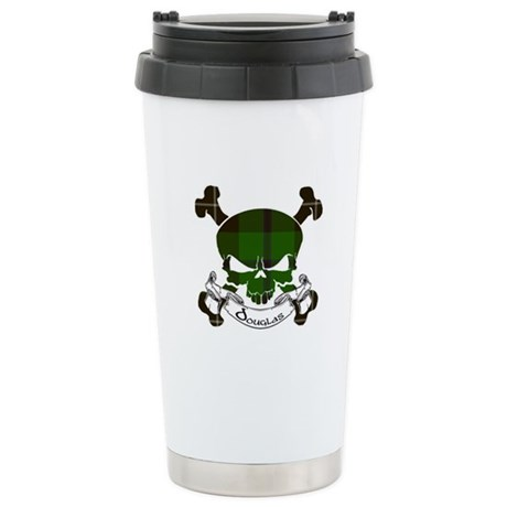Douglas Tartan Skull Stainless Steel Travel Mug