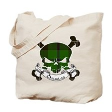 Douglas Tartan Skull Tote Bag