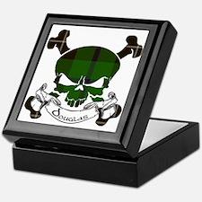 Douglas Tartan Skull Keepsake Box