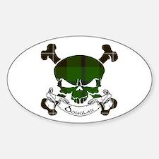 Douglas Tartan Skull Decal