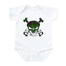 Duncan Tartan Skull Infant Bodysuit