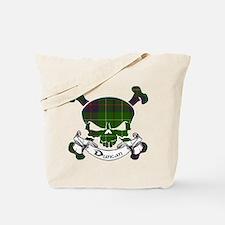 Duncan Tartan Skull Tote Bag