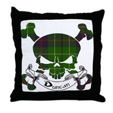 Duncan Tartan Skull Throw Pillow