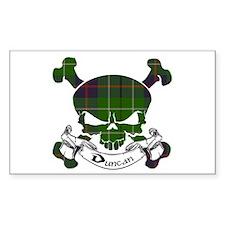 Duncan Tartan Skull Decal