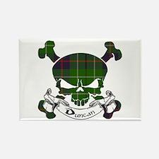 Duncan Tartan Skull Rectangle Magnet