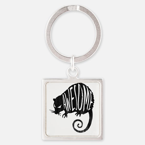 Cute Funny animal Square Keychain