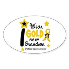 I Wear Gold 12 Grandson CHILD CANCER Decal
