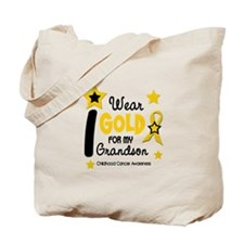I Wear Gold 12 Grandson CHILD CANCER Tote Bag
