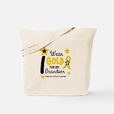 I Wear Gold 12 Grandson CHILD CANCER Tote Bag