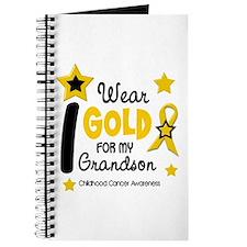 I Wear Gold 12 Grandson CHILD CANCER Journal