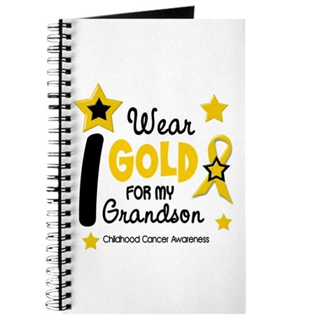 I Wear Gold 12 Grandson CHILD CANCER Journal