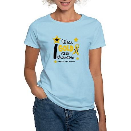 I Wear Gold 12 Grandson CHILD CANCER Women's Light