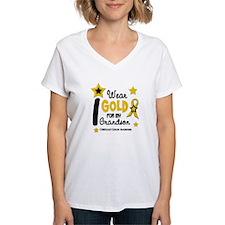 I Wear Gold 12 Grandson CHILD CANCER Shirt