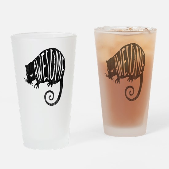 Cute Awesome possum Drinking Glass