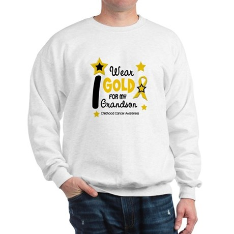 I Wear Gold 12 Grandson CHILD CANCER Sweatshirt