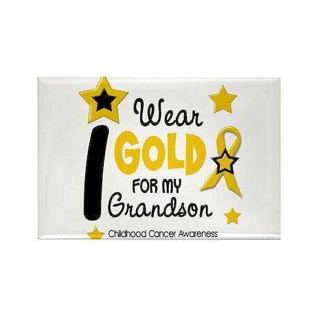 I Wear Gold 12 Grandson CHILD CANCER Rectangle Mag