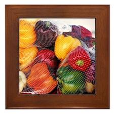 Peppers - Framed Tile