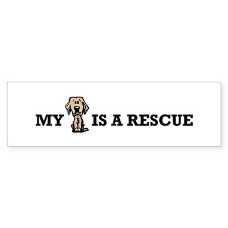 My Golden is a Rescue Bumper Sticker