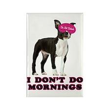 Boston Terrier Mornings Rectangle Magnet