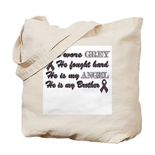 He is my Brother Grey Angel Tote Bag