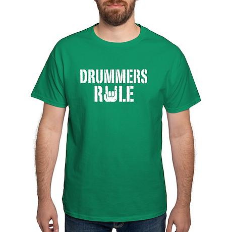 Drummers Rule Dark T-Shirt