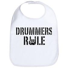 Drummers Rule Bib